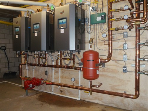 We installed 3 new high efficiency Canadian made trinity boilers