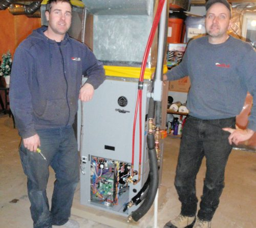 Greg and Larry happy with new performance of the new WaterFurnace