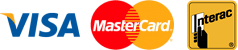 visa, mastercard, interact