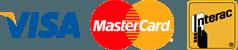visa, mastercard, interact