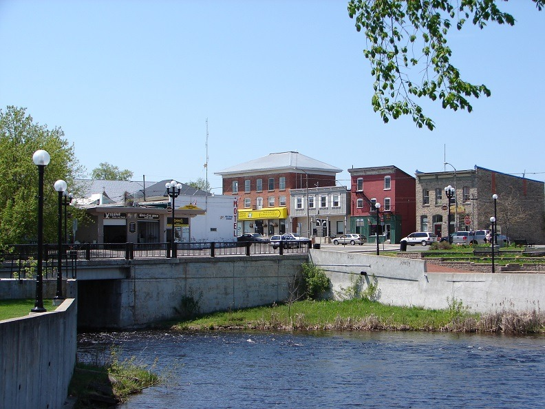 Kemptville downtown and the Kemptville Creek