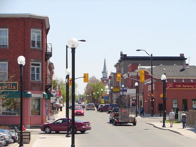 Prescott Street in downtown Kemptville, Ontario
