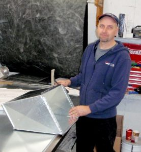 Larry Toonders, our custom ductwork technician.