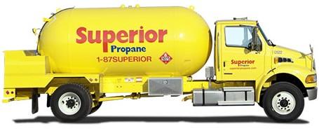 superior propane delivery truck