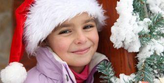 Christmas holidays 2016 girl in Santa hat