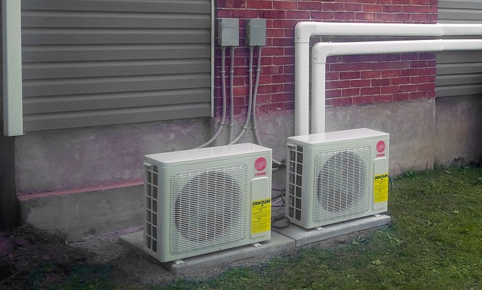 How to do spring air conditioner maintenance kemptville for Ac condenser pad installation