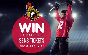 win a pair of sens tickets from atel air